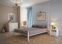 Кровать Фортуна 1 белая 140*200