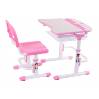 Детская парта-трансформер и стульчик FunDesk Colore Pink