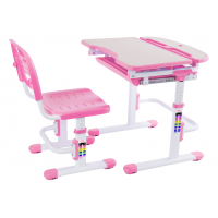 Парта и стул-трансформеры FunDesk Sorriso Pink