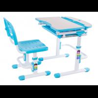Парта-трансформер регулируемая и стул FunDesk Sorriso Blue