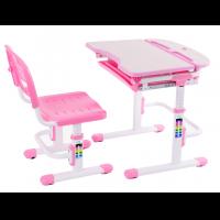Парта-трансформер и регулируемый стул FunDesk Cura Pink