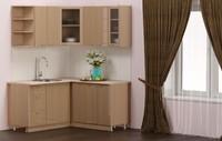 Кухня угловая Дуб глянец