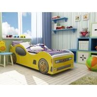 Кровать машинка Ягуар с матрасом