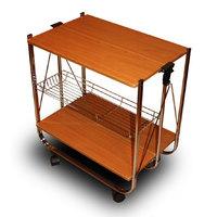 Столик сервировочный складной на колесиках 45 013