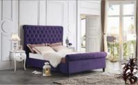 Пурпурная интерьерная кровать IR-0822