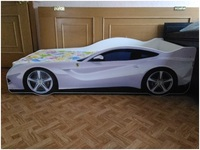 Кровать-машинка Феррари белая