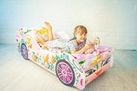 Розовая кровать-машинка Фея