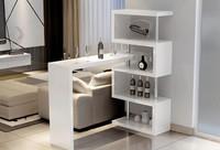 Барный стол № 5, белый и черный