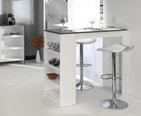 Барный стол № 7 белый-черный