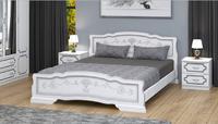 Кровать Карина 6 Bravo 90/120/140/160/180х200 белый жемчуг