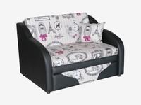 Детский диван Джерри 2 цвет Фьюжн Кенди + черный к.з
