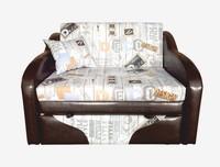 Детский диван Джерри 2 цвет Лонета ЛТ Декор 45 + коричневый к/з