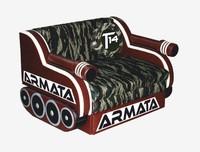 Детский диван Танк АRМАТА, Ткань камуфляж