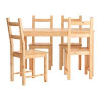 ИНГУ/ ИВАР Стол и 4 стула, сосна