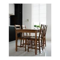ЙОКМОКК Стол и 4 стула, морилка, антик
