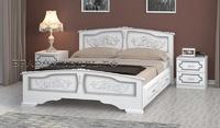 Кровать Елена белый жемчуг