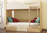 Кровать КР-5 2х ярусная с ящиками выдвижными на колесиках