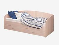 Кровать Соло-Софа 1 дуб млечный