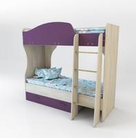 Кровать Спутник 1 Color двухъярусная