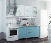 Кухня 1,5м - блестки Олива, Сирень, Оранж, Гранат