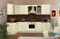 Кухонный гарнитур Кантри 1,33х2,8 м левая