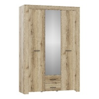 Шкаф 3х-створчатый с зеркалом КВАДРО-16