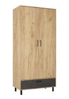 Шкаф распашной ШР2-1 с ящиком Лофт