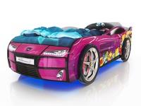 Кровать-машина Kiddy сиреневая