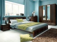 Спальня Беатрис - 2 цвета орех и дуб млечный