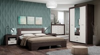 Спальня КВАДРО-2 Анкор темный-Анкор белый