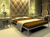 Кованая кровать Ангелина