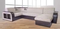 Угловой диван Ника 2 П-образный с оттоманкой